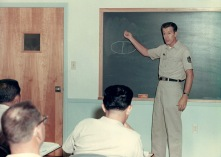 Senior Master Sgt. Frank Erine Joseph instructs World Affairs in the Air National Guard's NCO academy in 1969 to students on McGhee Tyson Air National Guard Base in East Tennessee. Sergeant Joseph was among the original instructors that helped start the academy in July 1968. (U.S. Air National Guard file photo)