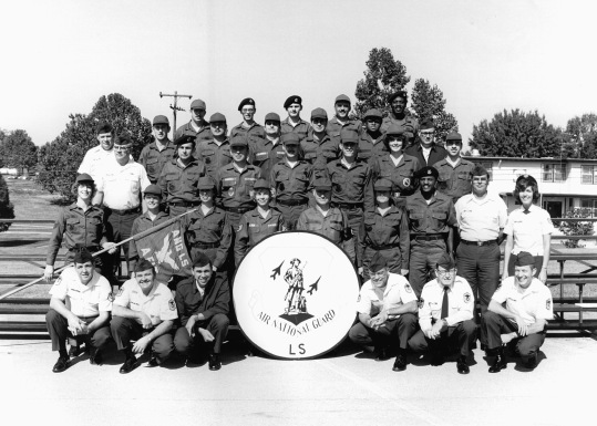 Students in Air National Guard Leadership School 81-AL in 1981 at the Professional Military Education Center on McGhee Tyson Air Guard Base in East Tennessee. (U.S. Air National Guard file photo)