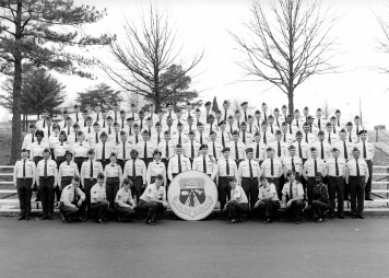 Students in Air National Guard NCO Academy, Class 86-D in 1986 at the Professional Military Education Center on McGhee Tyson Air Guard Base in East Tennessee. (U.S. Air National Guard file photo)