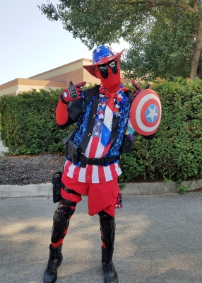 Air Force Master Sgt. Robert A. Pickler, a Cyber Operations manager assigned at the Air National Guard's training and education center in East Tennessee, dresses in parody as a comic character for causes and awareness campaigns, among other charitable events, as a means of community service. (Courtesy photo)