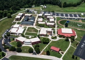 An overhead view of the I.G. Brown Training and Education Center campus located on McGhee Tyson ANGB in Louisville, Tenn. (U.S. Air Force photo by Master Sgt. Jerry Harlan)